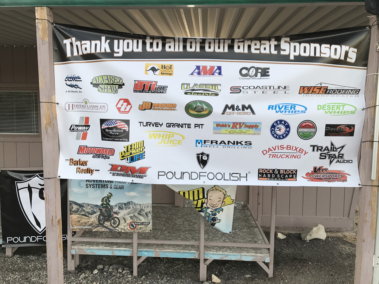 Crawdad Off Road Events sponsorship thank you banner