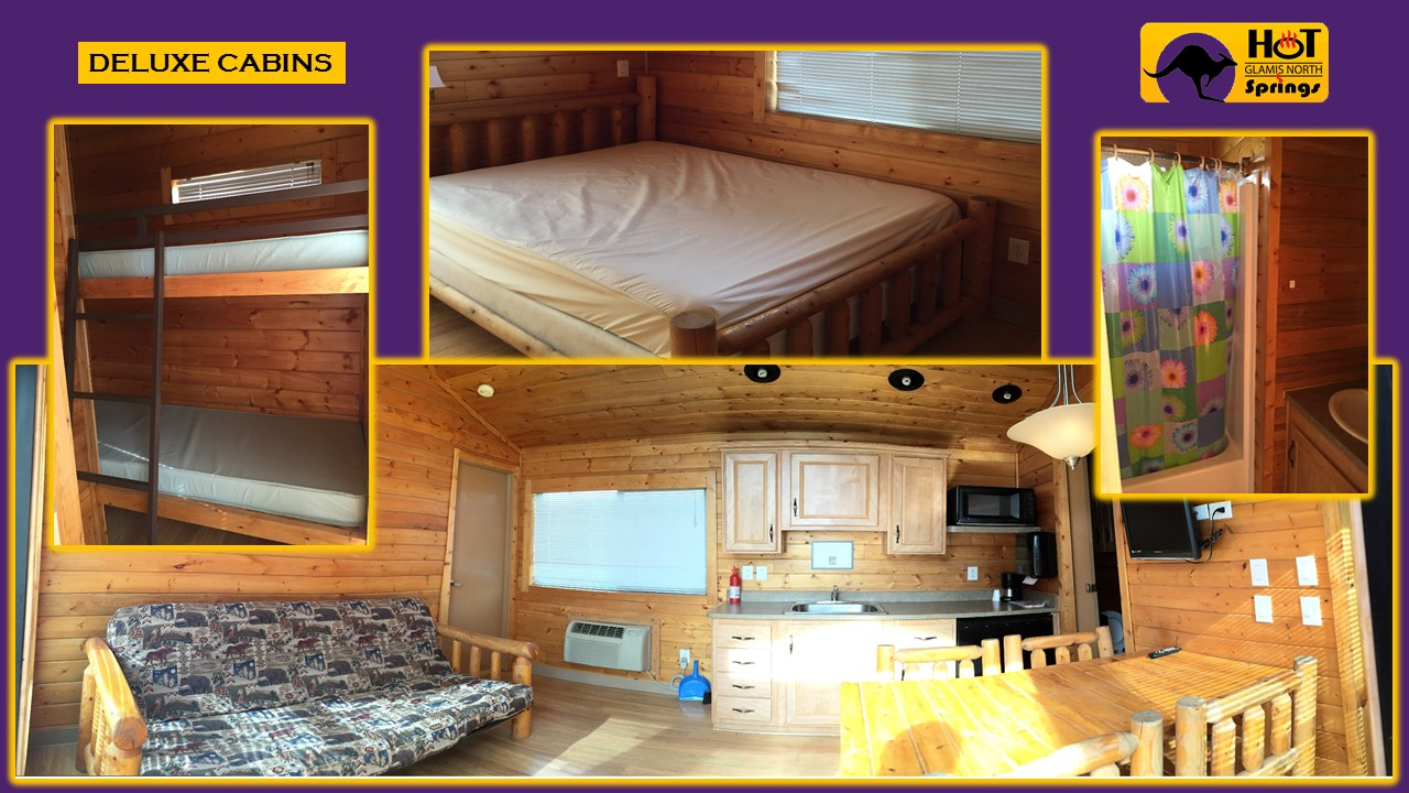 Picture of interior of our Deluxe Cabins