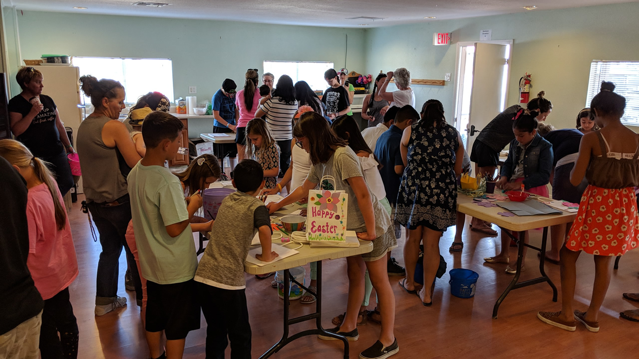 Kids gather for fun crafts at the annual Easter Celebration