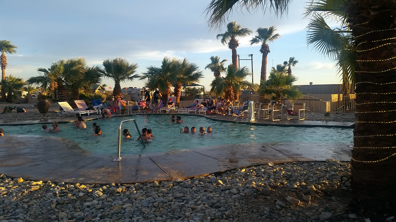 A picture of one of our pools at Glamis North Hot Springs Resort