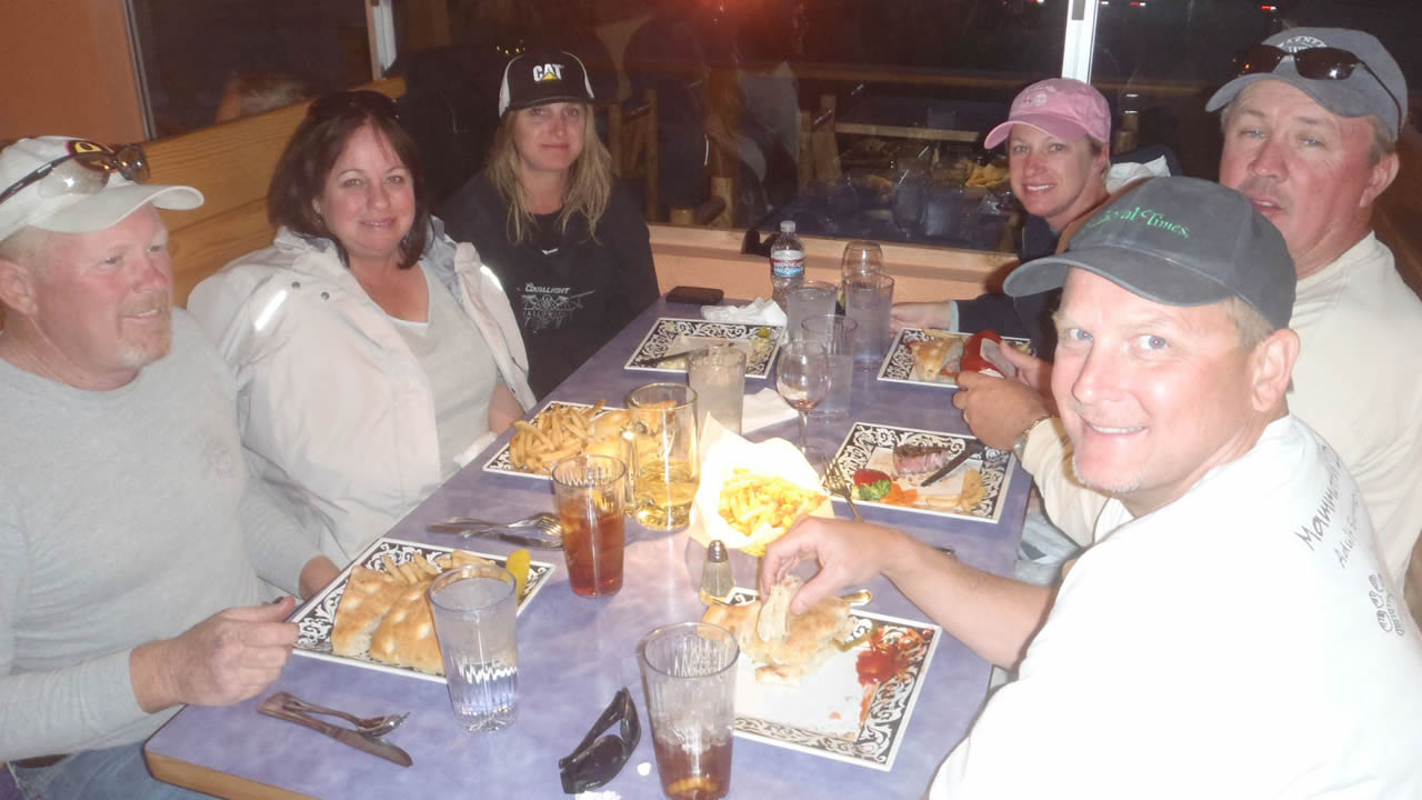 Picture of group enjoying dinner together at Sassy's Restaurant
