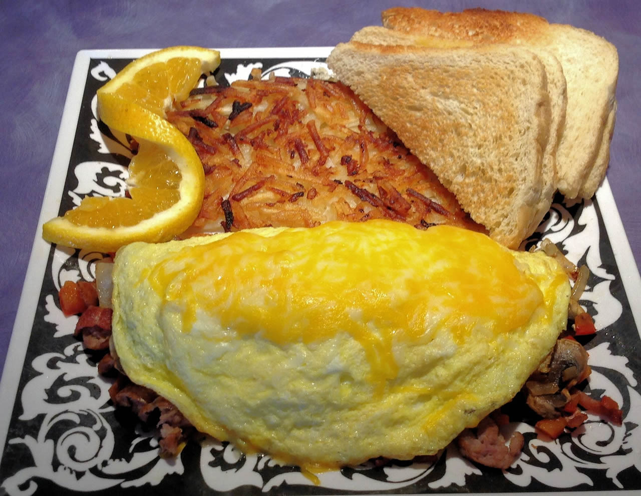 A picture of our breakfast omelet at Sassy's Restaurant, Glamis North Hot Springs Resort