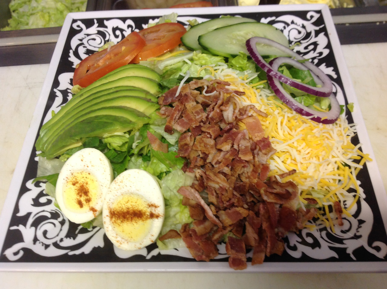 Picture of a tasty salad at Sassy's Restaurant, Glamis North Hot Springs Resort
